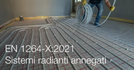 EN 1264-X:2021 | Sistemi radianti annegati