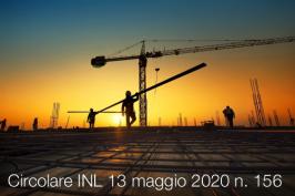 Circolare INL 13 maggio 2020 n. 156