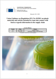 Guidance on Regulation (EU) No 10/2011 on plastic materials MOCA