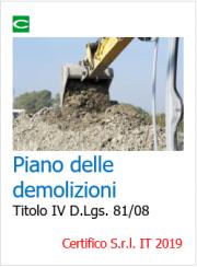 Piano di lavoro delle demolizioni