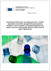 Guida Regolamento sulle materie plastiche - Regolamento UE 10/2011