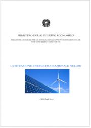 Relazione sulla situazione energetica nazionale al 2017
