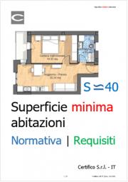 Superficie minima abitazioni | Normativa e requisiti
