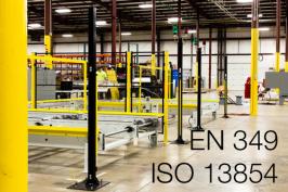 EN 349 e ISO 13854 | Spazi minimi per evitare lo schiacciamento di parti del corpo