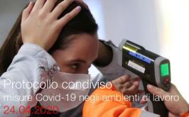 Protocollo condiviso misure Covid-19 negli ambienti di lavoro | 24.04.2020