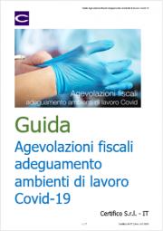 Guida Agevolazioni fiscali adeguamento ambienti di lavoro Covid-19