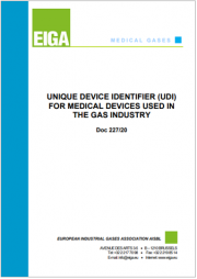 UDI for Medical Devices Used in the Gas Industry