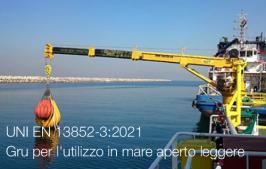 UNI EN 13852-3:2021 - Gru per l'utilizzo in mare aperto leggere