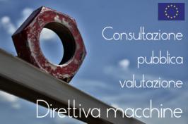 UE: Consultazione pubblica Direttiva macchine
