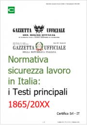 Normativa sicurezza lavoro in Italia: Timeline e Testi