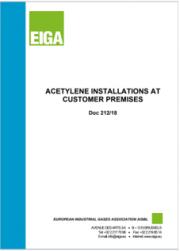 Installazione e gestione di impianti di acetilene | EIGA 2018