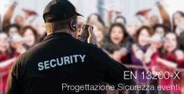 UNI EN 13200-X Progettazione Sicurezza eventi pubblici