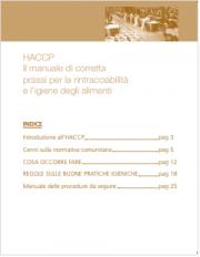 Il manuale HACCP