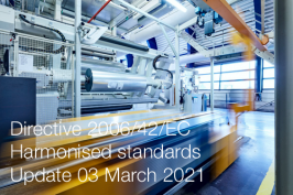 Directive 2006/42/EC: Harmonised standards published in the OJ | Update 03 March 2021