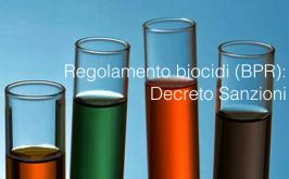 Regolamento biocidi (BPR): Decreto Sanzioni