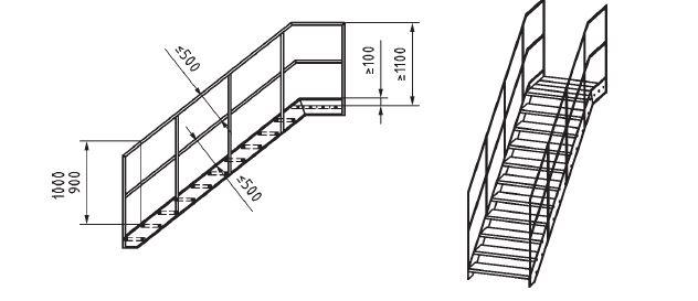 Progettazione scale scale a castello e parapetti en iso 14122 3 certifico srl - Normativa scale interne ...