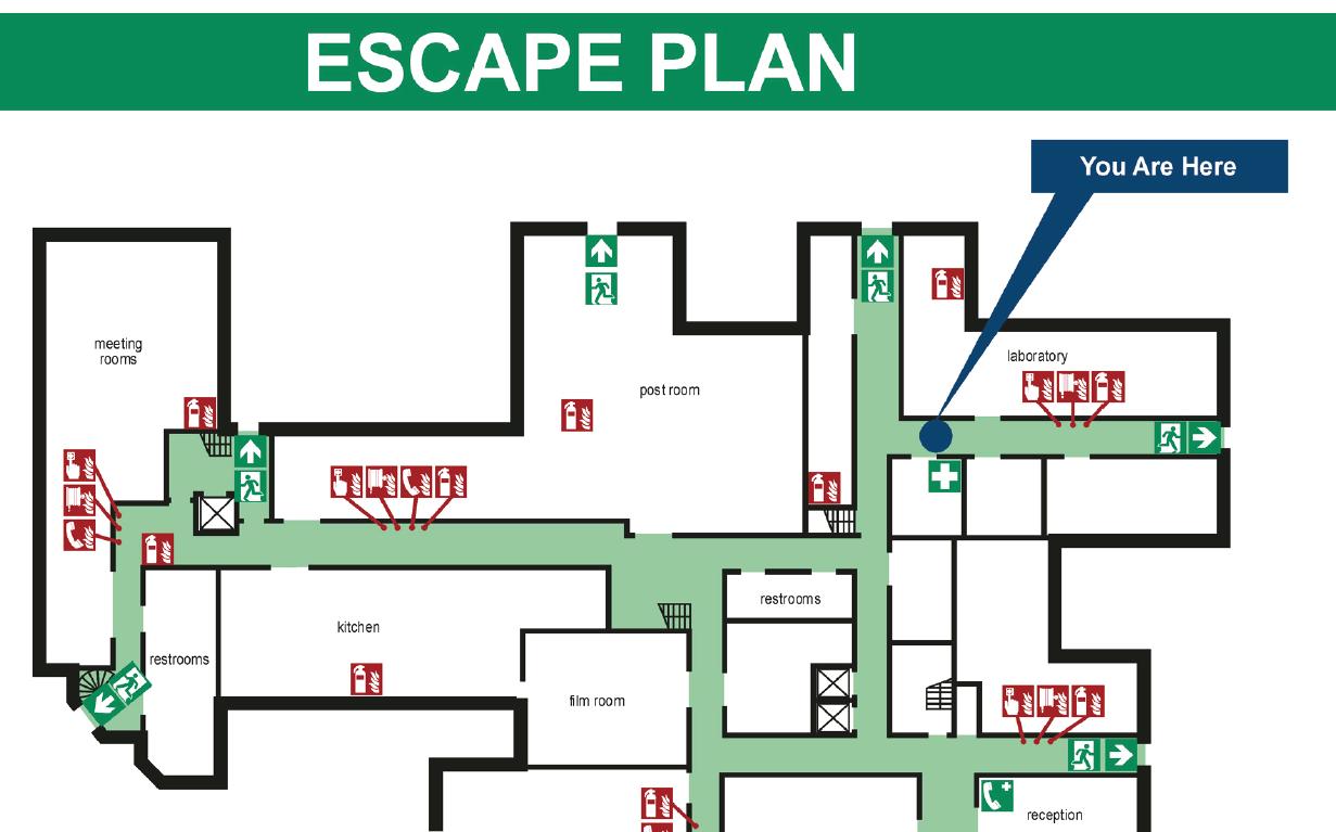 Planimetrie per l 39 emergenza uni iso 23601 certifico srl for Planimetrie di layout di casa