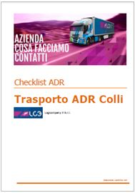 Trasporto ADR Colli: Check list ADR 2015