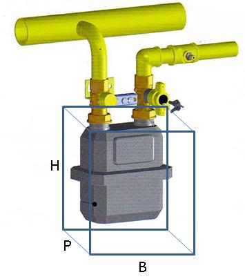 Installazione contatori gas secondo la uni 9036 2015 for Armadio contatore gas