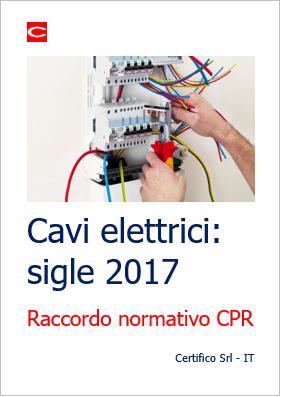 Cavi elettrici: sigle 2017 - Certifico Srl