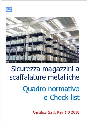 Calcolo Scaffalature Metalliche.Sicurezza Magazzini A Scaffalature Metalliche Quadro