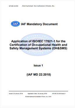 IAF Mandatory Document Application of ISO IEC 17021  1