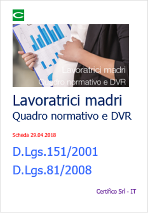 Lavoratrici madri: Quadro normativo | Check list | DVR