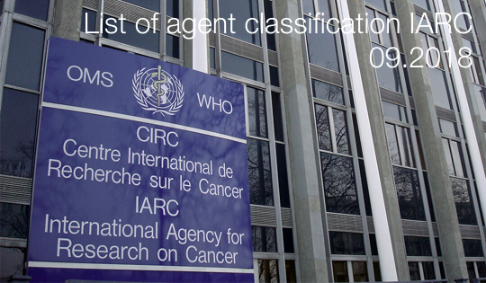 List of agent classification IARC
