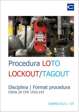 Procedura LOTO Disciplina | Format procedura
