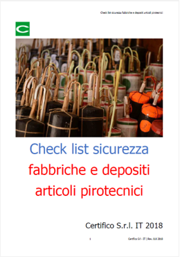 check list materiali esplodenti
