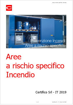 Aree a rischio specifico Incendio