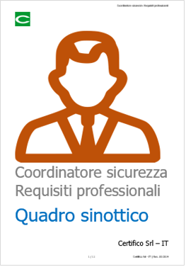 Coordinatore sicurezza   Requisiti professionali