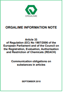 Information Note Art  33 REACH Sept 2018 Orgalime