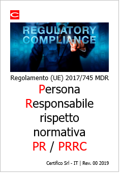 MDR Person responsible for regulatory compliance  PRRC