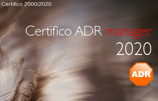 Certifico ADR manager 2020