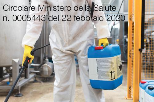 Circolare Ministero Della Salute N 0005443 Del 22 Febbraio 2020 Certifico Srl