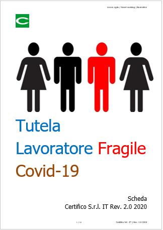 """Tutela del Lavoratore """"Fragile"""" Covid 19 - Certifico Srl"""