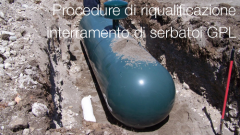 Procedure di  riqualificazione   per  interramento  di serbatoi GPL