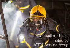 Clarification sheets noted by ATEX Working group