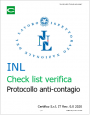 Check list verifica Protocollo anticontagio INL