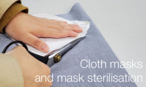 Cloth masks and mask sterilisation