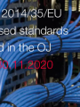 Low voltage Harmonised standards published in the OJ   30 11 2020